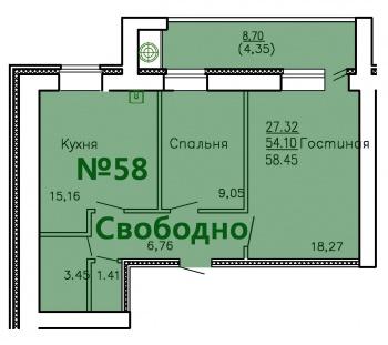 Продажа 2-к квартиры Ул.Приволжская