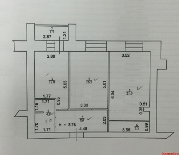 Продажа 2-к квартиры г. Казань, ул. Серова, 51/11