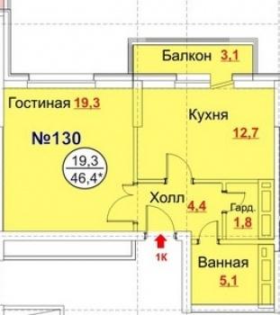 Продажа 1-к квартиры Рихарда Зорге, 66 г. Казань