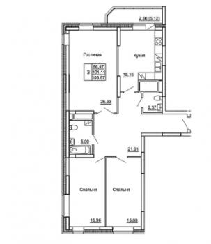 Продажа 3-к квартиры Гвардейская, д. 59а