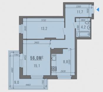 Продажа 2-к квартиры комиссара габишева