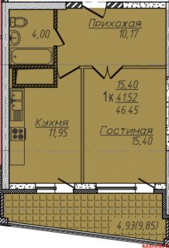 Продажа 1-к квартиры Комсомольская, секция 2 г. Казань