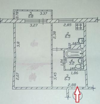 Продажа 1-к квартиры Железнодорожная, 15