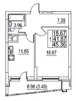 Продажа 1-к квартиры Хусаина Ямашева дом 1