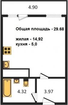 Продажа 1-к квартиры Братьев Батталовых