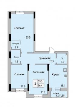 Продажа 3-к квартиры Тунакова 56а