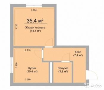 Продажа 1-к квартиры дом 6