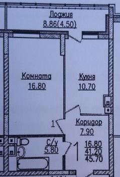 Продажа 1-к квартиры Гвардейская,54к1