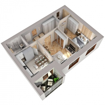 Продажа 2-к квартиры Губкина