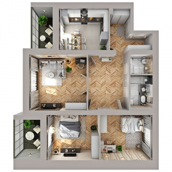 Продажа 3-к квартиры Губкина