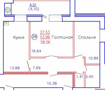 Продажа 2-к квартиры Приволжская, д. 102, корпус 4