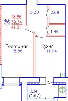 Продажа 1-к квартиры Приволжская, д. 102, корпус 3
