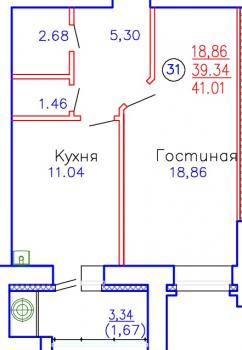 Продажа 1-к квартиры Приволжская, д. 102, корпус 4