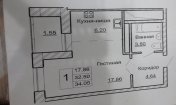 Продажа 1-к квартиры Карбышева 50