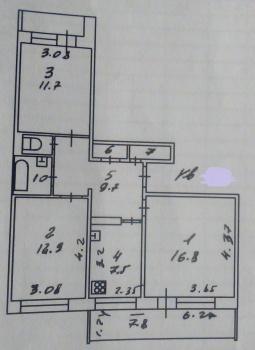 Продажа 1-к квартиры Комиссара Габишева, 7