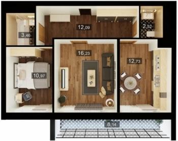 Продажа 2-к квартиры пр. Альберта Камалеева, д.30