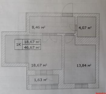 Продажа 1-к квартиры Аделя Кутуя 110 Д корп1