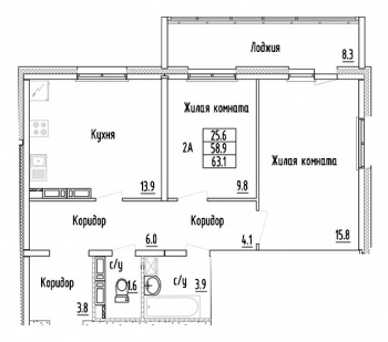 Продажа 2-к квартиры Проспект Строителей, 2