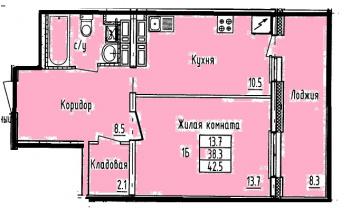 Продажа 1-к квартиры Проспект Строителей, 8