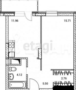 Продажа 1-к квартиры Уютная 12